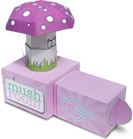 Pneumatic Mushroom Papercraft