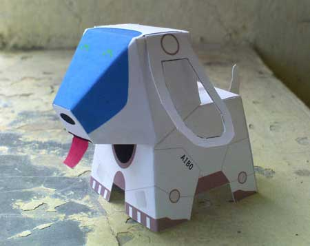Puppy Aibo Robot papercraft