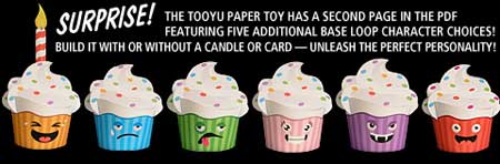 Desktop Gremlins Tooyu Paper Toy