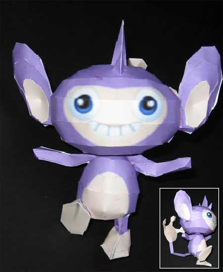 Pokemon Aipom Papercraft