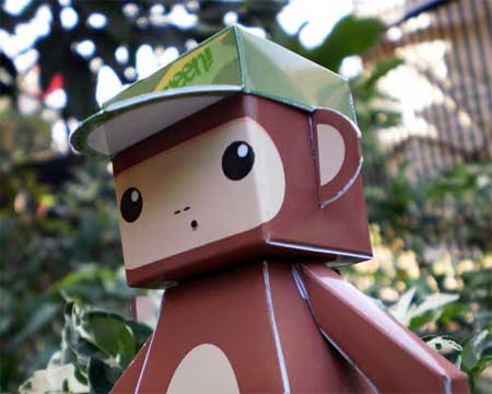 Monkey Dumpy Paper Toy