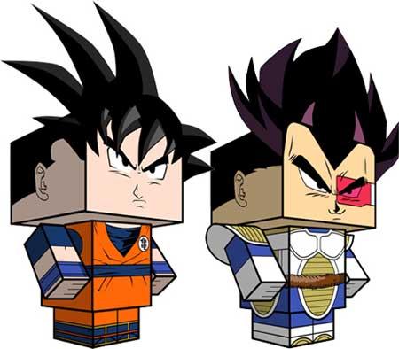 Dragon Ball Z Kai Papercrafts