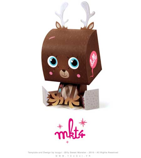 Billy Sweet Monster Paper Toy MKT4
