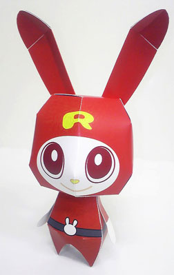 Red Rabbit Papercraft