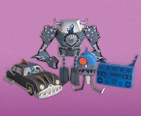 Megamind Papercraft Robots