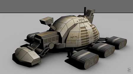 Dune Spice Harvester Papercraft