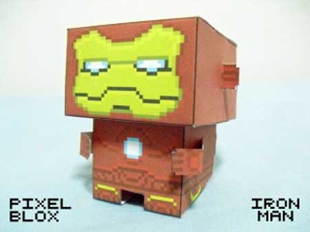 PixelBlox Paper Toy