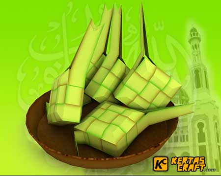 Ketupat Papercraft