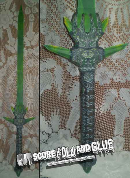 Glass Claymore Sword Papercraft