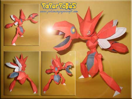 Pokemon Scizor Papercraft
