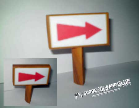 Glover Papercraft Sign Post