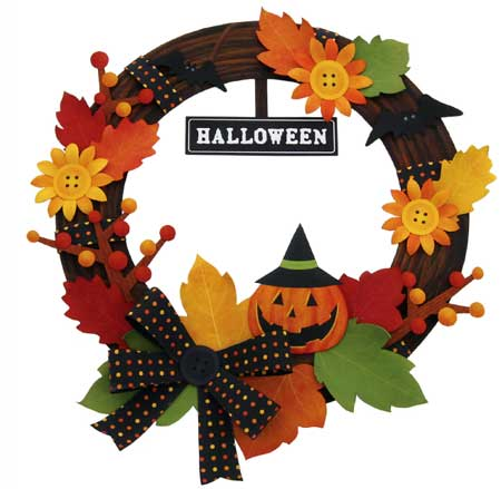 2010 Halloween Wreath Papercraft