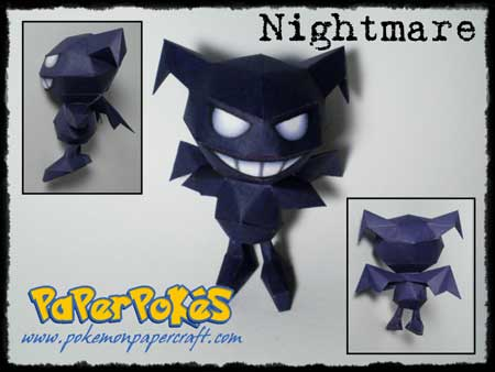 Pokemon Nightmare Papercraft Move