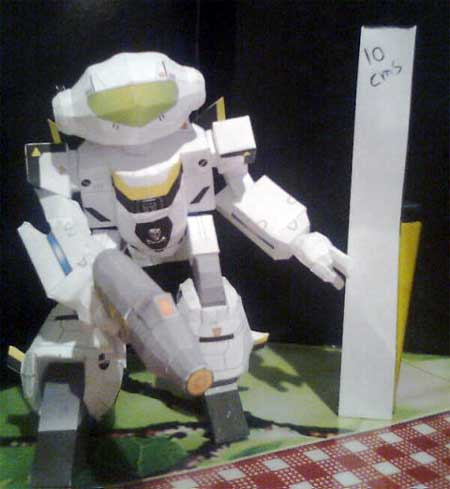 Robotech VF1 Valkyrie Papercraft Battroid