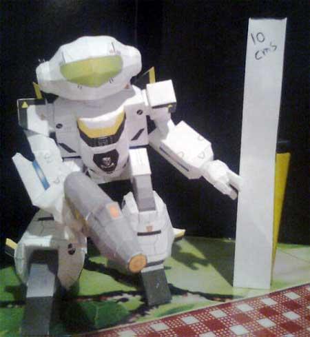 Robotech VF1 Valkyrie Papercraft Battroid