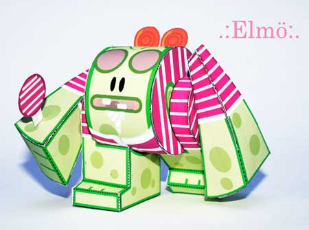 Ye-bot Paper Toy Candybot