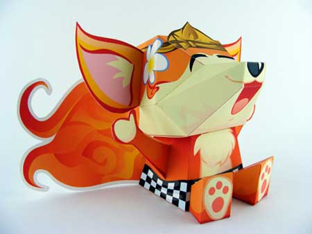 Firefox Papercraft - Kumi Mascot