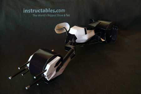 Batpod Papercraft