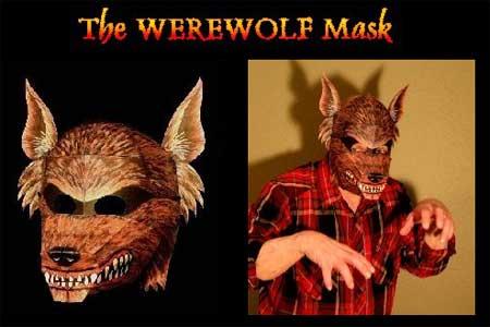Werewolf Mask Papercraft