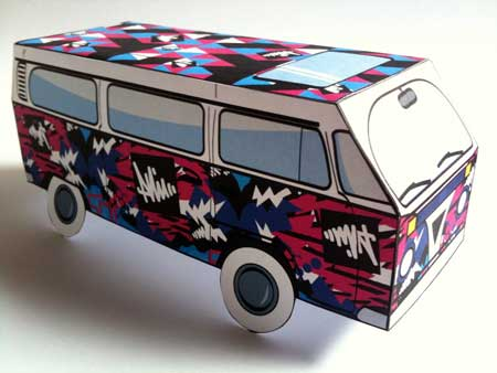 Kawaii Wagon Papercraft