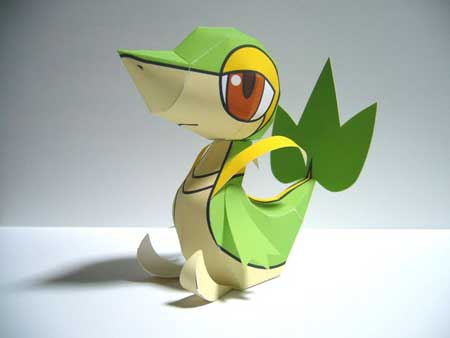 Pokemon Tsutarja Papercraft 2