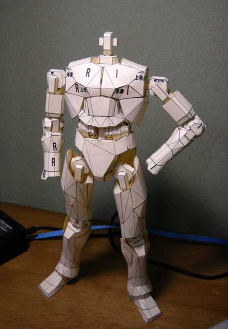 Papercraft Action Figure