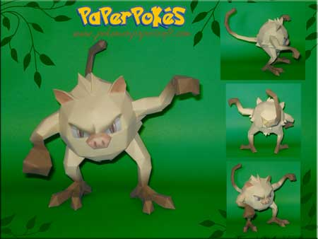 Pokemon Mankey Papercraft