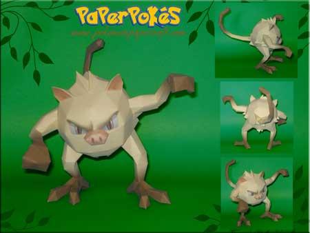 Pokemon Mankey Papercraft