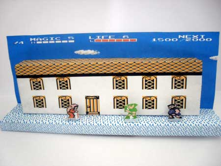 Zelda 2 Adventure of Link Papercraft Diorama