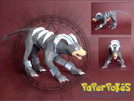 Pokemon Houndoom Papercraft