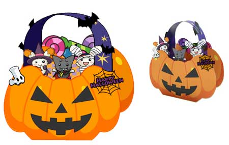 Halloween Treat Bag Papercraft