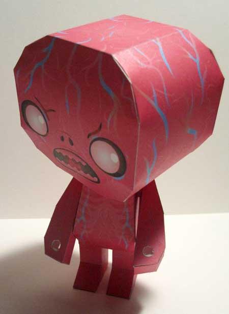 Raw Gums Papercraft