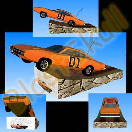 The General Lee Papercraft