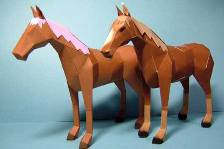 Brown Horse Papercraft