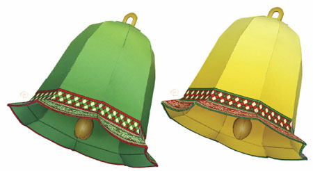 Christmas Tree Bell Ornament Papercraft