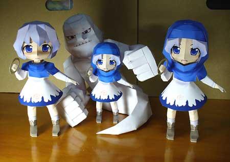 Touhou Project Papercraft - Ichirin Kumoi Unzan