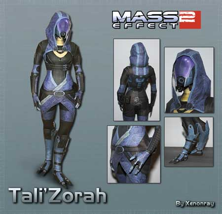 Mass Effect 2 Papercraft Tali Zorah