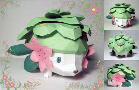 Pokemon Shaymin Papercraft Land Form