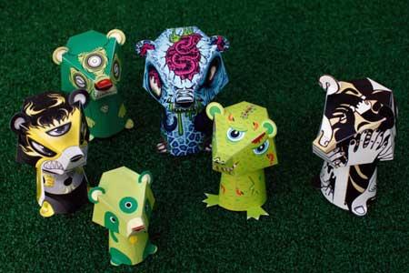 3EyedBear Paper Toys Paper People