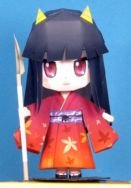 Hinomoto Oniko Demon Child Papercraft