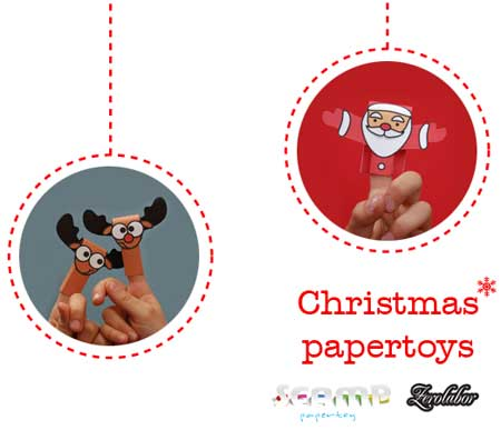 Finger Puppet Santa Papercraft