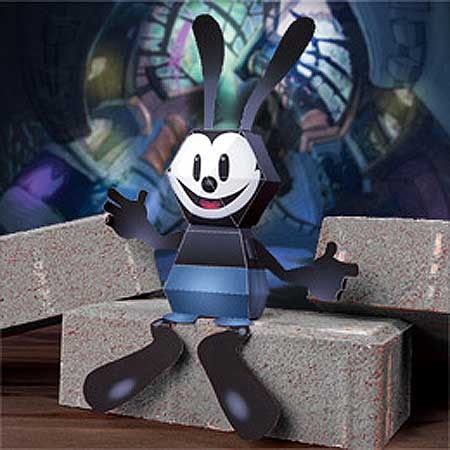 Epic Mickey Papercraft Oswald the Lucky Rabbit