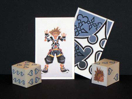 Kingdom Hearts 2 - Sora Cards & Dice Papercraft