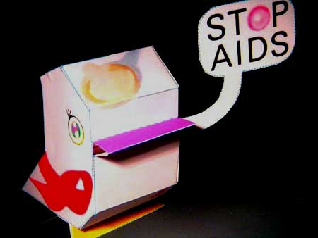 World AIDS Day 2010 Nanibird Paper Toy