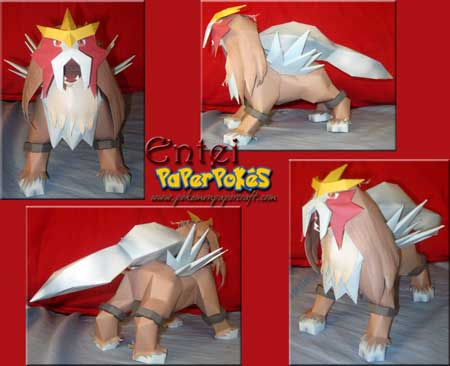 Pokemon Entei Papercraft