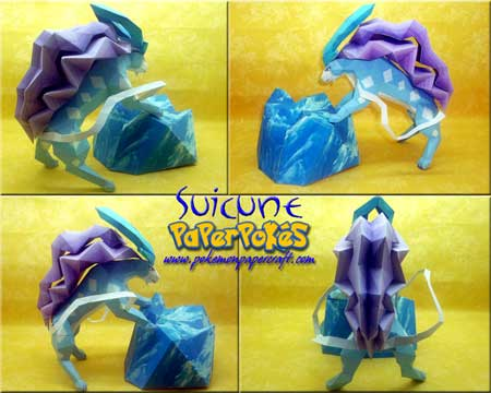 Pokemon Suicune Papercraft