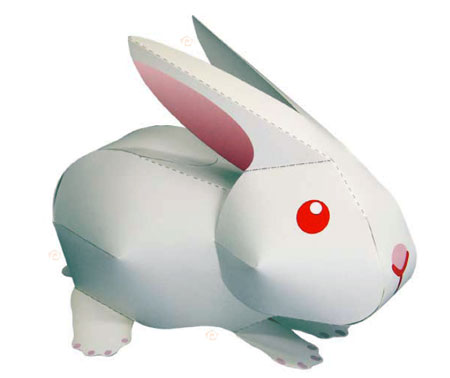 Super Kawaii Rabbit Papercraft