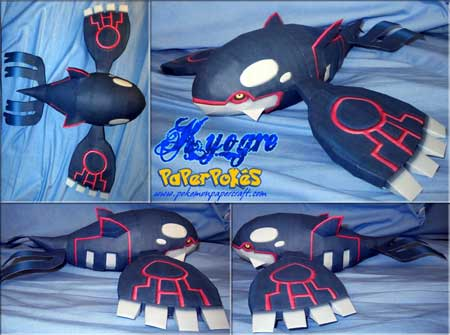 Pokemon Kyogre Papercraft
