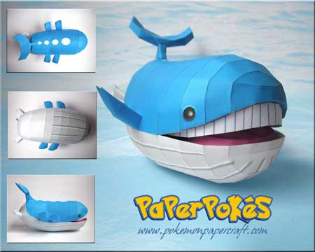 Pokemon Wailord Papercraft