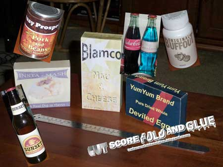 Fallout New Vegas Papercraft Food Box Labels